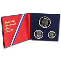 1976-S UNITED STATES 40% SILVER BICENTENNIAL EISENHOWER 3 COIN PROOF SET