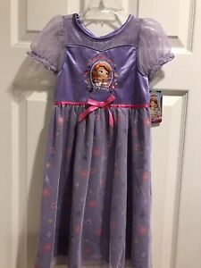 Disney Sofia the First Princess Dress/Nightgown Toddler Girls 4T Dress up NWT