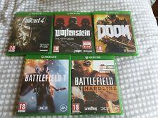 5 Xbox One Game Bundle Battlefield / Doom / Wolfenstein / Fallout 4 FREE P&P