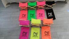 Repose tête pliant bois plage été 7 couleurs différentes +housse ☆☆VENDEUR PRO☆☆
