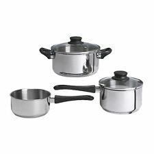 ANNONS  5 PIECE COOKWARE SET  PAN & LID- STAINLESS STEEL - FREE SHIPPING