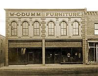 "1909 Dumm Furniture, Junction City, Kansas Vintage Old Photo 8.5"" x 11"" Reprint"