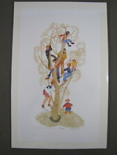 Rie Munoz Signed/Numbered Limited Edition Serigraph -  1993 Neighbors Starr Hill