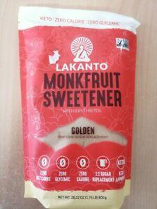 Lakanto Monk Fruit Sweetener All Natural Sugar Substitute Golden 28.22 OZ Keto
