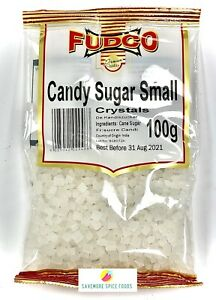 CANDY SUGAR - MISHRI/MISRI/SAKAR - CRYSTALS - ROCK CANDY - GEODE CAKE 100g