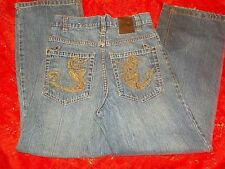 True Urban collection jeans w/unique designs on backpockets & watchpocket,size12