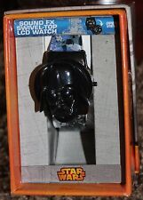NEW boys DISNEY sound fx LCD WATCH star wars DARTH VADER swivel-top