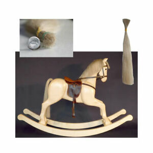 Rocking horse hair real horse hair, mane , tail and forelock small size