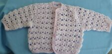 BABY HAND CROCHET JACKET PINK SUIT 6 TO 9 MONTH OLD (50)