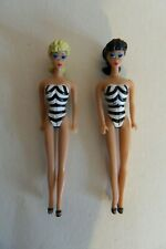 Miniature #1 Barbie 1959 Brunette & Blonde Ponytail Dolls - Fully Articulated