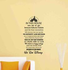 In This House We Do Disney Wall Decal Quote Vinyl Sticker Decor Poster Mural 697