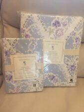 Pottery Barn Kids Sadie Trellis Twin Duvet Cover& Standard Sham Blue Lavender 🌺