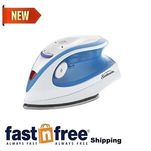 Travel Iron Compact Portable Mini Small Steam Non-Stick Soleplate Light Blue NEW