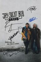 """JAY & SILENT BOB REBOOT Cast x5 Authentic Hand-Signed """"KEVIN SMITH""""11x17 Photo B"""