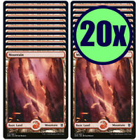 20x MOUNTAIN 275 Full Art Basic Land NM/LP MTG Magic Zendikar Rising