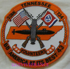 PUS273 - US NAVY USS TENESSEE SSBN 734 PATCH SOUS-MARIN NUCLEAIRE