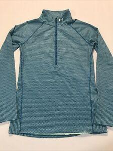 Under Armour Women's Coldgear Shirt Sz Medium 1/4 Zip Activewear