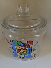 Disney's Winnie the Pooh Glass Treat or Cookie Jar Canister