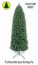 7ft Eco-Friendly Oncor Slim Noble Spruce Christmas Tree