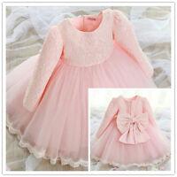 Mädchen Blumenmädchen Bogen Binden Partykleid Hochzeit Prinzessin Kleid