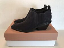 Via Spiga Farly Water-Resistant Leather Booties, Women's Size 7, Black