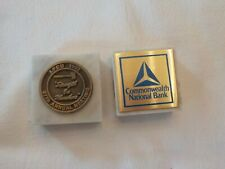 2 Paperweights Commonwealth National Bank & Letterkenny Federal Credit Union