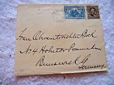 ANTIQUE STAMPED ENVELOPE  FROM CLEVELAND OHIO TO BRUNSWICK GERMANY P.O.N.Y. 1893
