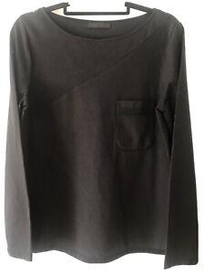 THE ROW Longsleeve Black Jersey T Shirt Top S 8