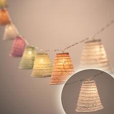 20-60er LED Lampion Laternen Lichterkette Party Deko Beleuchtung Bunt Weiß