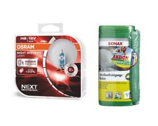 OSRAM H8 NightBreaker Laser +150% +Sonax Reinigungstücher +Microfasertuch PLUS