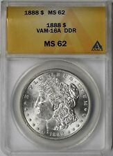 1888 VAM-16A DDR Morgan Silver Dollar $1 MS 62 ANACS