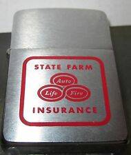 Vintage RARE 1959 State Farm Insurance Advertising Zippo Lighter  2517191 Nice