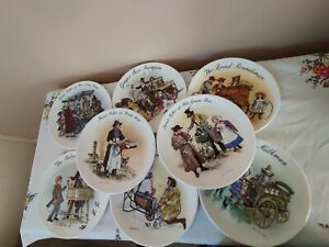 Collection Of Wedgewood The Street Seller Of London collector's plates X 8