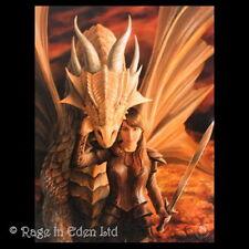 *INNER STRENGTH* Gothic Fantasy Dragon Art 3D Postcard By Anne Stokes (15x10cm)