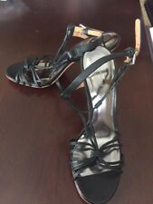New Coach Ankle-Strap Dress Sandals, Black Size 6