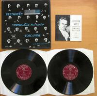 LM 6009 Beethoven Symphony nos. 1 & 9 Toscanini NBC Symphony 2xLP EXCELLENT RCA