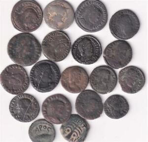 19 GENUINE ROMAN COINS, FROM A GENTLMANS COLLECTION SILVER/COPPER B12
