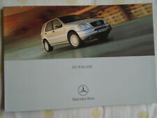 Mercedes M Class brochure May 2000 German text