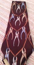 Saks Fifth Avenue Tie Brown Pliers Wide Mens Designer Tie Nice