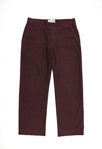 MARTIN MARGIELA 10 AW 2006 men burgundy anatomical pants size 48 / W33 L30