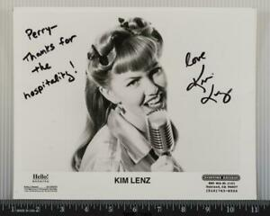 Kim Lenz Autograph Signed 8x10 B&W Promo Promotional Photo tob