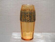 1920's Moser Karlsbad Amber Glass Cabinet Vase
