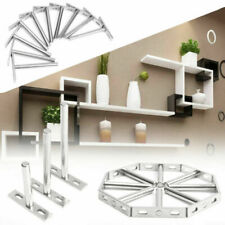 10 x Blind Wall Shelf Support Floating Concealed Hidden Shelf Metal Bracket Set