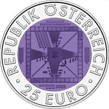 Österreich 25 Euro 2005 50 Jahre Fernsehen - Silber Niob Münze