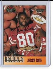 JERRY RICE 1993 TOPPS STADIUM CLUB RECORD BREAKER MEMBERS ONLY AUTOGRAPH