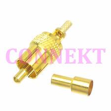 1pce RCA AV male plug crimp connector for RG174 RG316 LMR100 RF Audio and video