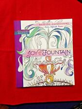 """""""JOY LIKE A FOUNTAIN"""" ADULT COLORING JOURNAL BOOK ,Travel Acid-Free paper *NEW*"""