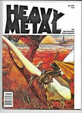 Heavy Metal Vol 1 #4 July 1977 Corben Moebius Bode Druillet Bilal Voss Arzach VF