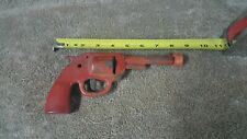 Vintage Pressed Steel Red Clicker Toy Gun, Original Paint & Clicker 1930's