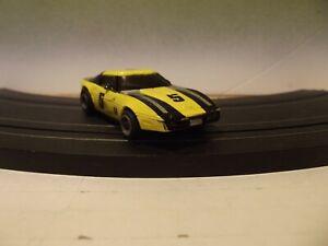 LIFE-LIKE ROKAR 80's YELLOW & BLACK #5 CORVETTE With M-CLASS CHASSIS HO SLOT CAR